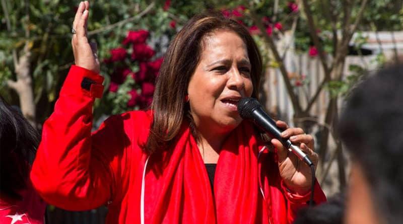 Nidia Díaz buscará la reelección como diputada por el FMLN para el período 2021-2024