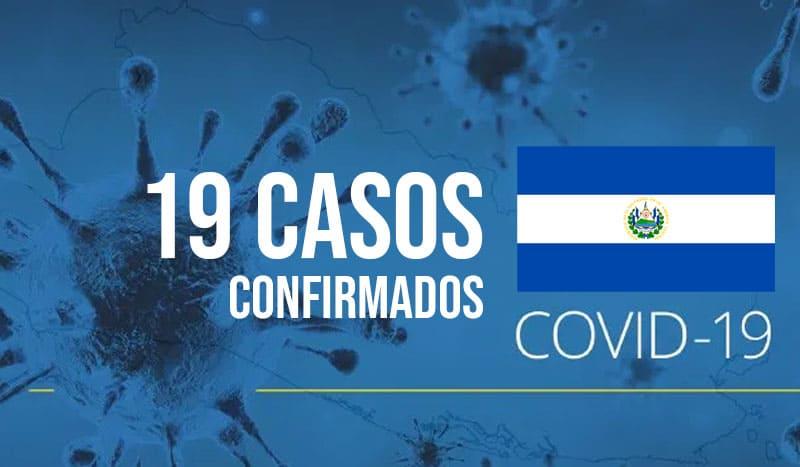 Aumentan a 19 los casos de COVID-19 en El Salvador