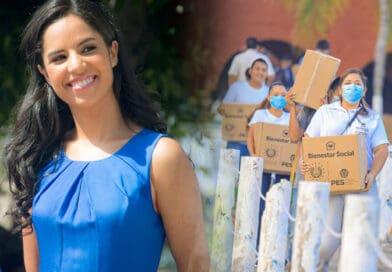 Gabriela de Bukele envía ayuda a zonas vulnerables del país ante huracán IOTA